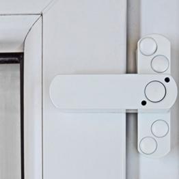 ABUS Fenster-Zusatzschloss DFS95 f/ür Doppelfl/ügelfenster gleichschlie/ßend braun 31718
